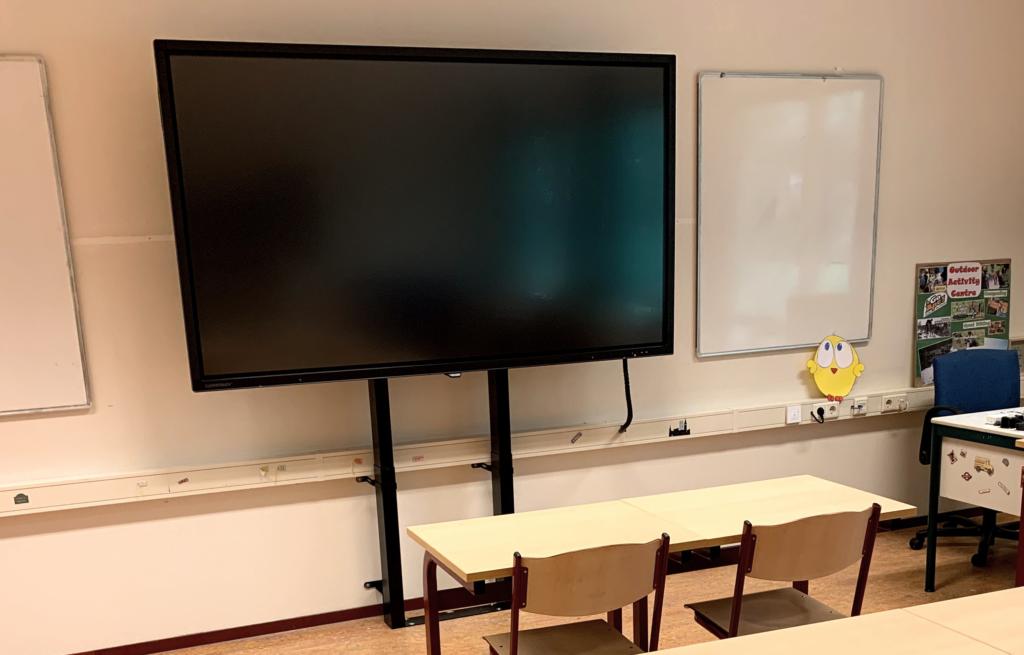 86 inch digibord touchscreen met hoogteverstelling onderwijs - digibord